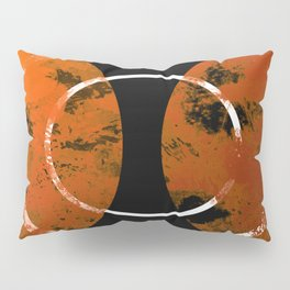 Resonance - Abstract in gold, black and white Pillow Sham