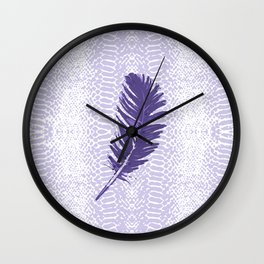 Violet feather Wall Clock