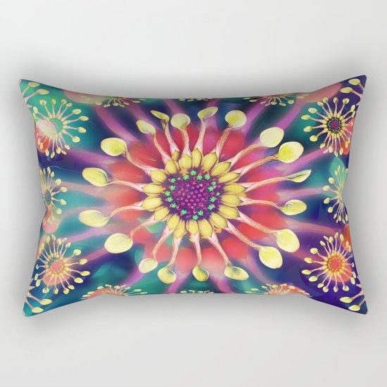 Flower Clock Rectangular Pillow