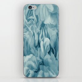 Soft Baby Blue Petal Ruffles Abstract iPhone Skin