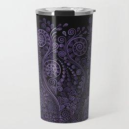Violet 3D Psychedelic Ornaments Travel Mug