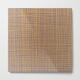 Purple and Gold VI Thread pattern Metal Print
