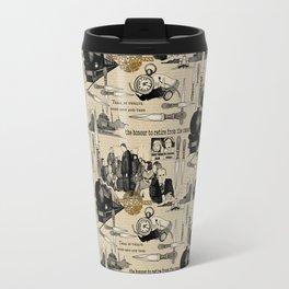 Murder on the Orient Express (Agatha Christie) Toile de Jouy Travel Mug