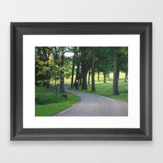 wandering path Framed Art Print