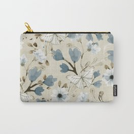 Flowers and Butterflies Carry-All Pouch