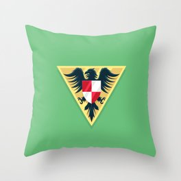 Delta Red V Throw Pillow