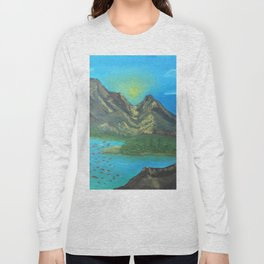 Sunny mountaintop valley Long Sleeve T-shirt
