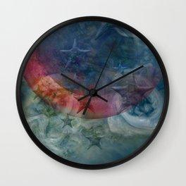 """Saturn's pink astral fluid"" Wall Clock"