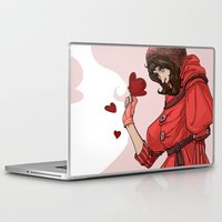 valentina Laptop & iPad Skins featuring Be my Valentina by LaurenceBaldetti