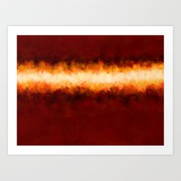 Red Burgundy & Fire Abstract Art Print