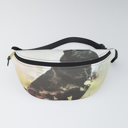 Chinese Shar-Pei Digital Watercolor Painting Fanny Pack