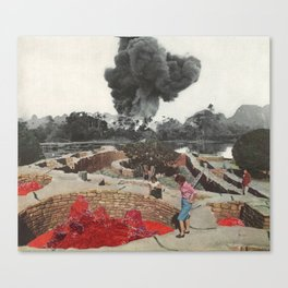 Red Blooded Planet Canvas Print