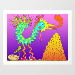 #120: Chicken Feed and Chicken Seed Art Print