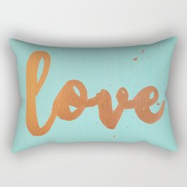 Acrylic 5 - Love! Rectangular Pillow