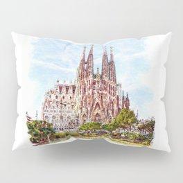 La Sagrada Familia watercolor Pillow Sham