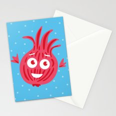 Cute Red Onion Stationery Cards