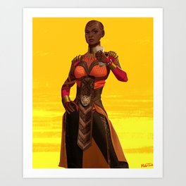 Okoye Art Print