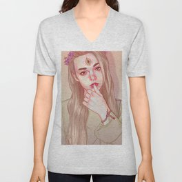 Opened third eye Unisex V-Neck