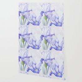 Watercolor Iris Wallpaper
