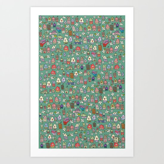 Houses - eco Art Print