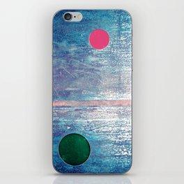 Metallic Face (Blue Version) iPhone Skin