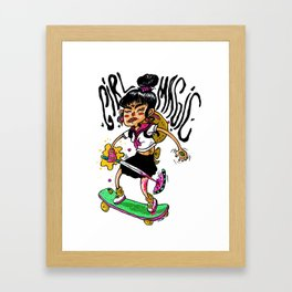 GIRL MAGIC Framed Art Print