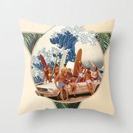 Surf Beat Throw Pillow