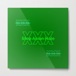 HTGBY @Insta Society6 Stop Asian Hate Campaign  - #AsianLivesMatter #ALM 78.3 Metal Print