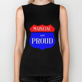Maineiac And Proud Biker Tank