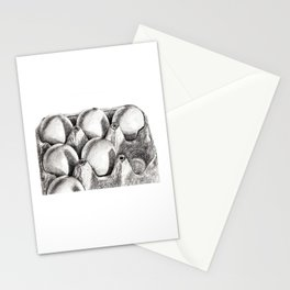 Egg in Carton Stationery Cards