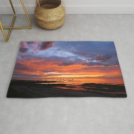 Stunning Seaside Sunset Rug