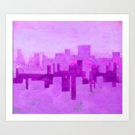 Industrial City Ombre Art Print