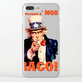 I want more bacon Clear iPhone Case
