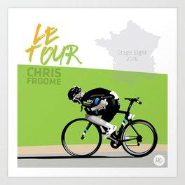Le Tour + Froome Art Print