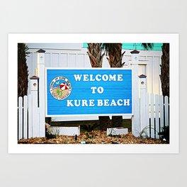 Small Town Beach Art Print