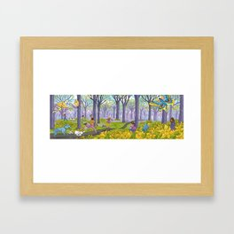 Kites and Daffodils Framed Art Print