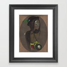 Girl with Camera Framed Art Print