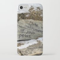 poland iPhone & iPod Cases featuring Peace in Poland by Anything et Everything by Nina L.