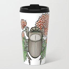 Beetle with Chrysanthemum Travel Mug