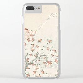Fuji and Cherry Blossom, Katsushika Hokusai, 1800 Clear iPhone Case