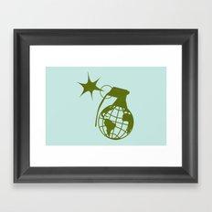 Earth Grenade Framed Art Print