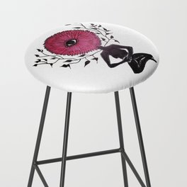 Divine Flower Woman Bar Stool