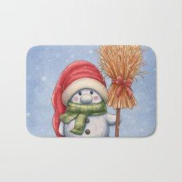 A little snowman Bath Mat