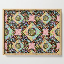 Boho Chic Patchwork Serving Tray