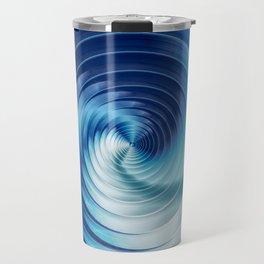 Metallic Blue Disks Travel Mug