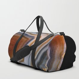 Layered agate geode 3163 Duffle Bag