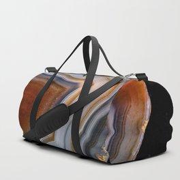 Layered agate geode 3163 Duffle Bag