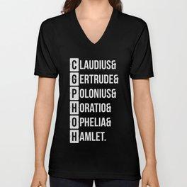 Hamlet Shakespeare Character List T-Shirt Unisex V-Neck