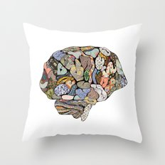 my brain looks different Throw Pillow