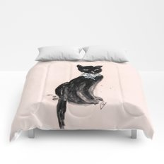 Spoiled Kitty Lifestyle Illustration Comforters